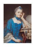 Portrait of Marie Fel, C.1753 Giclee Print by Maurice Quentin de La Tour