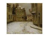 Neige, Montmartre Giclee Print by Henri Eugene Augustin Le Sidaner