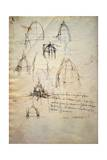 Study for the Dome of the Cathedral of Milan, the Code Trivulzianus, 1478-1490 Giclee Print by  Leonardo da Vinci