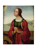 St. Margaret at Prayer Giclee Print by Lorenzo Costa