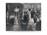 The Duke of Norfolks Interview with Elizabeth 1569 Giclee Print by Henry Marriott Paget