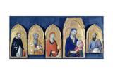 Saint Domenic's Altarpiece Giclée-tryk af Simone Martini