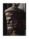 Head of Prophet, Bronze Panel Giclee Print by Lorenzo Ghiberti