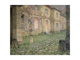 House with Roses at Dusk, C.1928 Giclee Print by Henri Eugene Augustin Le Sidaner