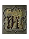 Pentecost, Bronze Panel Giclée-tryk af Lorenzo Ghiberti