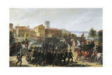 First War of Independence, the Taking of Peschiera, May 30, 1848 Giclee Print by Luigi Morgari