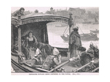 Catherine Howard Being Conveyed to the Tower 1542 Giclee Print by Henry Marriott Paget