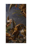 Figures of Angels, Ca. 1610 Giclée-tryk af Ludovico Carracci
