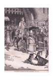 Departure of Bishop Odo from Rochester Ad 1088 Giclee Print by Henry Marriott Paget