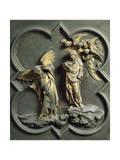 Temptation of Christ, Panel Giclée-tryk af Lorenzo Ghiberti