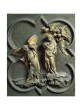 Temptation of Christ, Panel Giclee Print by Lorenzo Ghiberti