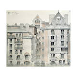 Rear Facade of Castel Beranger in Paris, 1894-98 Giclee Print by Hector Guimard