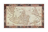 World Map, 1567 Giclee Print by Nicolas Desliens