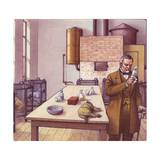Louis Pasteur in His Laboratory Giclee Print by Pat Nicolle