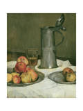 Still Life with Apples and Pewter Jug, 1878 Giclee Print by Heinrich Wilhelm Truebner