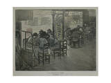 Paris on Terrace of Café Giclee Print by Théophile Alexandre Steinlen