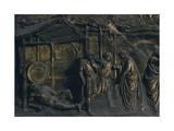 Drunkenness of Noah, Panel Giclée-tryk af Lorenzo Ghiberti