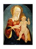 Panel Showing Madonna with Child Giclée-tryk af Neri Di Bicci