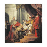 St Francis of Assisi Presents Rule to Pope Innocent IV Giclee Print by Nicholas Ricciolini