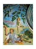 Vertumnus and Pomona, 1519 - 1521 Giclée-tryk af Jacopo Pontormo