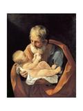 St Giuseppe and Christ Child Giclee-trykk av Guido Reni