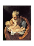 St Giuseppe and Christ Child Giclée-Druck von Guido Reni
