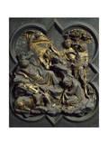 Nativity, Panel Giclée-tryk af Lorenzo Ghiberti