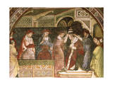 Coronation of Alexander, Scene from Stories of Alexander III, 1407-1408 Giclee Print by Spinello Aretino