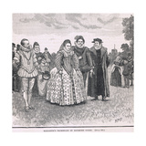 Elizabeth's Promenade on Richmond Green 1603 Giclee Print by Henry Marriott Paget