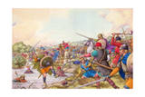 Battle of the Winwaed Giclee Print by Pat Nicolle