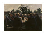 The Funeral Meal, 1886 Giclee Print by Leon Henri Marie Frederic