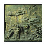 Appearance of Angels to Abraham and Sacrifice of Isaac Giclée-tryk af Lorenzo Ghiberti