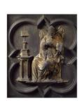 Church Father, Panel Giclée-tryk af Lorenzo Ghiberti