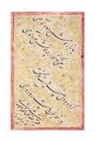 Nasta'Liq Quatrain, 1606-7 Giclee Print by Riza-i Abbasi