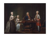 Kaiser Franz I with His Wife and Children, 1763 Giclee Print by Martin Mytens II
