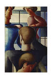Group at Railing I, 1931 Giclee Print by Oskar Schlemmer