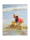 Building Sandcastles Giclee Print by Paul Gribble