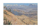 Terraces Dhulikel, Nepal Giclee Print by Tim Scott Bolton