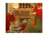 Birth of Virgin, Detail from Triptych of Nativity of Virgin Giclee Print by Pietro Lorenzetti