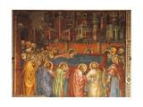 Funeral of Virgin, Scene from Life of Virgin, 1406-1408 Giclée-tryk af Taddeo di Bartolo