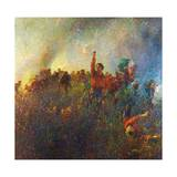 The Red Vanguard of Argonne Giclee Print by Plinio Nomellini