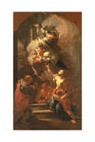 St. John of Nepomuk Comforting the Oppressed, C.1748 Giclee Print by Paul Troger