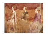 Ball Game, Detail from Games of the Borromeo Nobles Fresco Cycle Giclee Print by Michelino Da Besozzo
