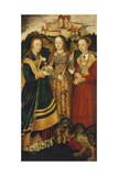 Saint Mary Magdalene, Side Panel of Crucifixion Triptych, 1440 Giclée-Druck von Rogier van der Weyden