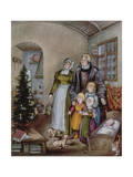 Martin Luther's Christmas Tree, from 'The Illustrated London News' Giclée-tryk af Pauline Baynes
