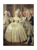 A Court Belle of 1770 Giclee Print by Talbot Hughes