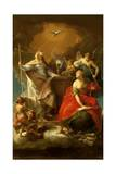 Allegory of Religion Giclée-tryk af Pompeo Batoni