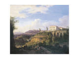 Italy, Naples, View of Villa Ruffo Homestead in Capodimonte, 1826 Giclee Print by Salvatore Fergola