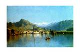Lake Garda, Italy, 1863 Giclee Print by Sanford Robinson Gifford