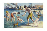 Bathers Giclee Print by Maximilien Luce